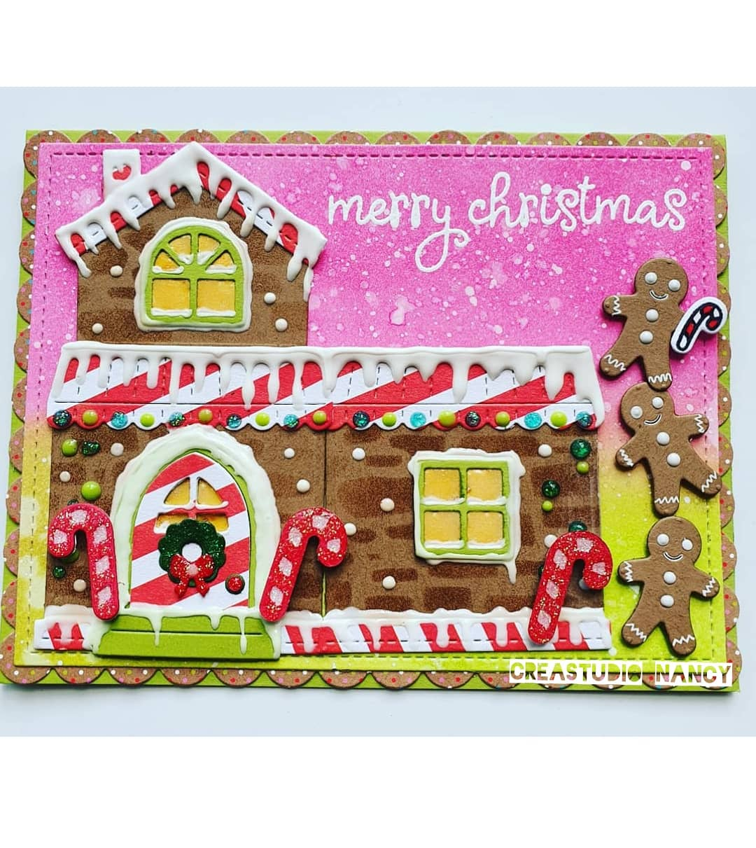Gingerbread House Pink