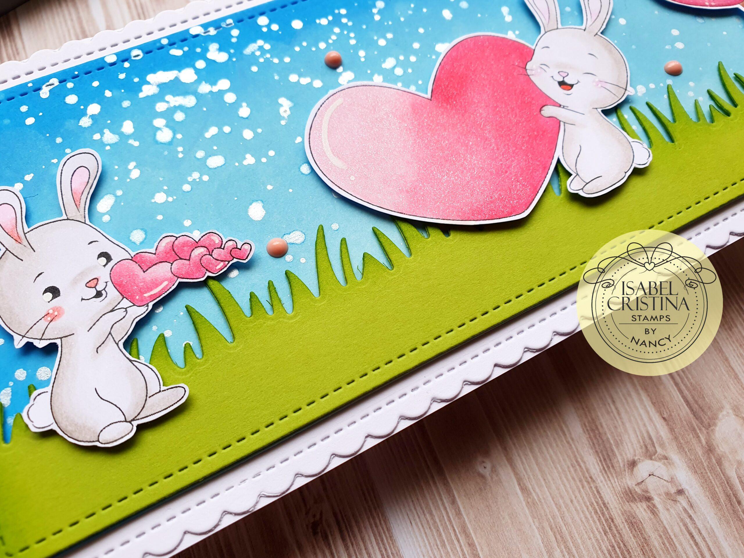Valentine card FEAT Isabel Cristina Bunny Hugs